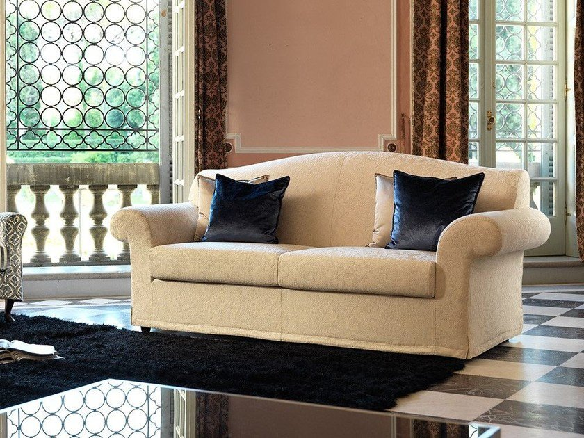 Fabric sofa with removable cover AMBROGIO | Classic style sofa by Domingo Salotti