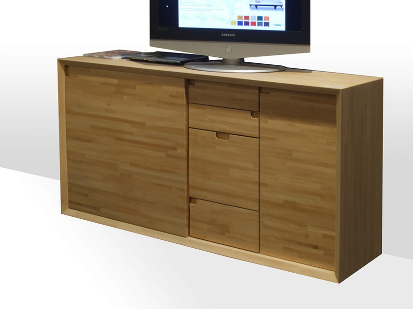 Lacquered wooden TV cabinet DADA by Cinius