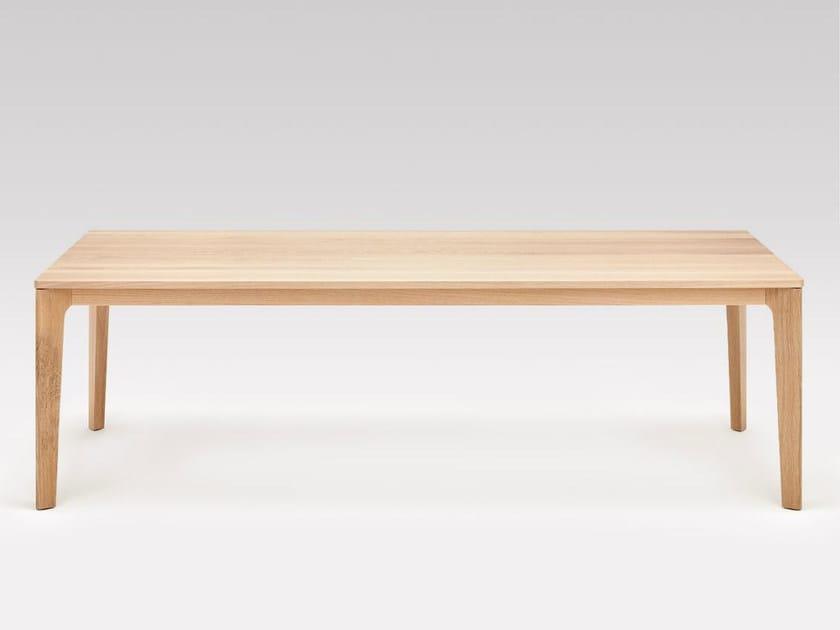 ausziehbarer rechteckiger tisch aus massivem holz co sinus 1 by rolf benz design werner baumhakl. Black Bedroom Furniture Sets. Home Design Ideas