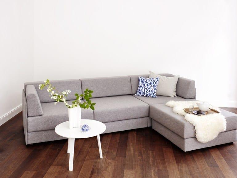 Sof cama modular de tela sitzlandschaft by dessau design for Sofa cama modular