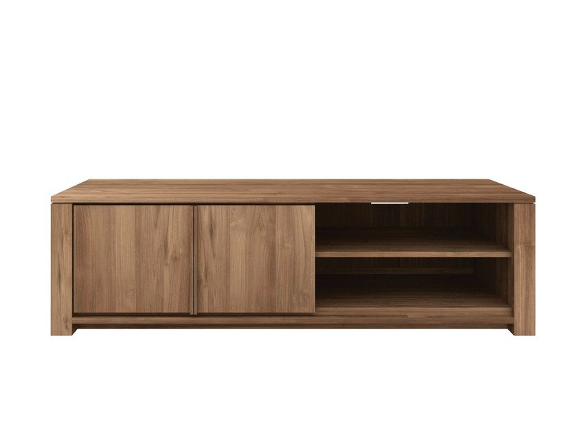 Low teak TV cabinet TEAK LODGE | TV cabinet - Ethnicraft