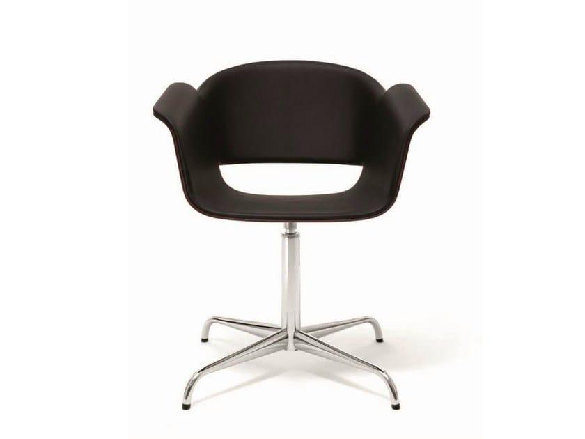 Swivel reception chair with 4-spoke base RONDO | Chair with 4-spoke base - BENE