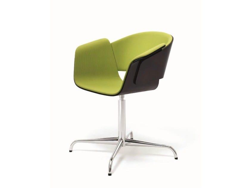 Swivel upholstered reception chair RONDO | Upholstered chair - BENE