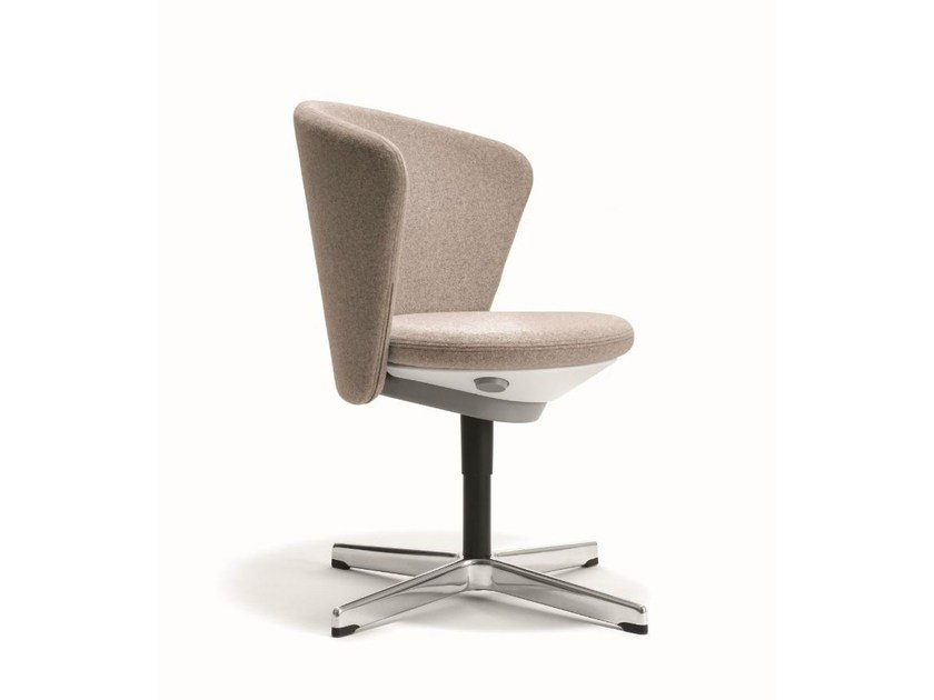 Upholstered reception chair with 4-spoke base BAY CHAIR - BENE