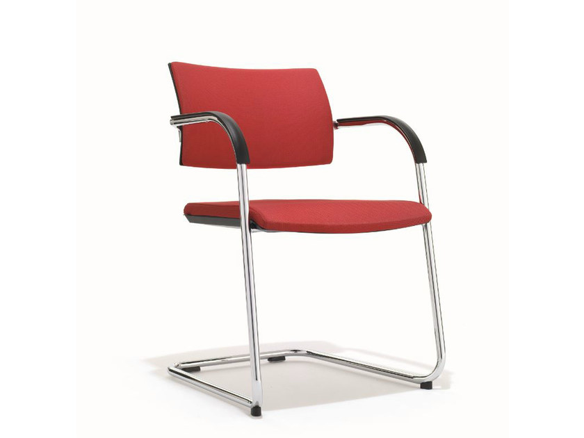 Cantilever training chair with armrests B_CAUSE | Cantilever chair - BENE