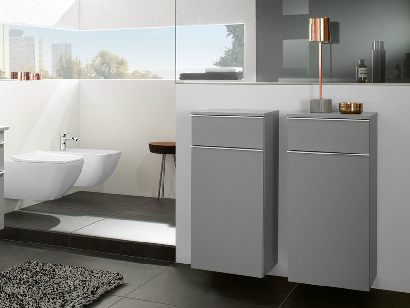 Suspended bathroom cabinet with drawers VENTICELLO | Bathroom cabinet by Villeroy & Boch