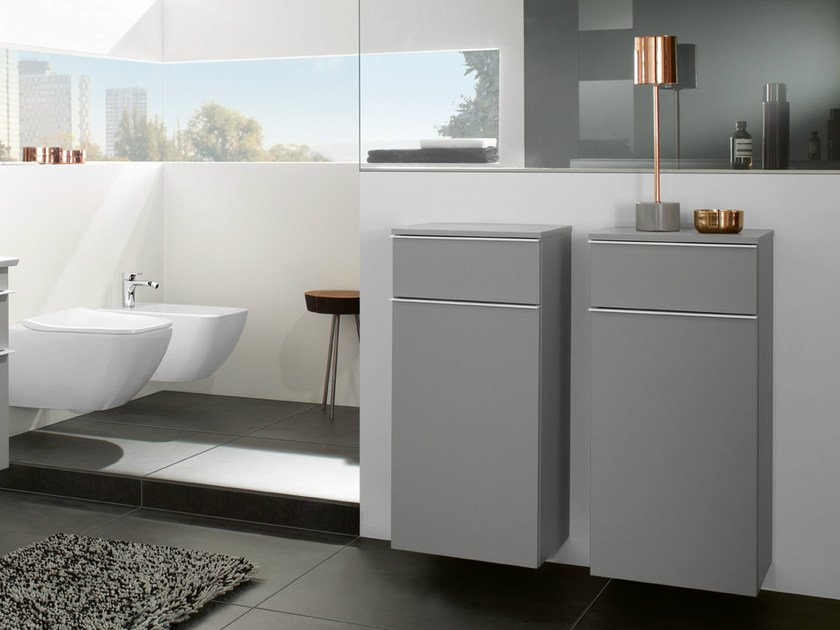 Suspended bathroom cabinet with drawers VENTICELLO | Bathroom cabinet - Villeroy & Boch