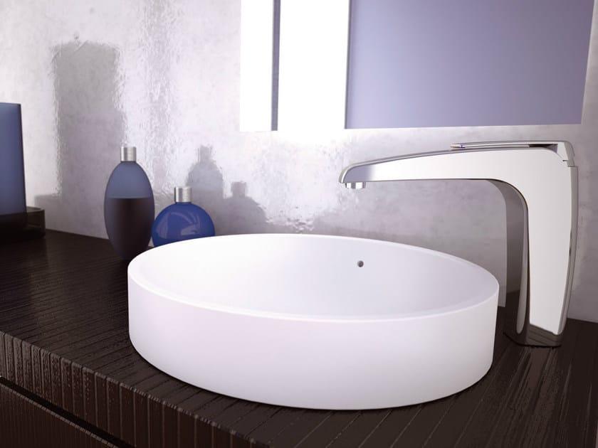 Chrome-plated single handle 1 hole washbasin mixer ATMOS | Washbasin mixer - Remer Rubinetterie
