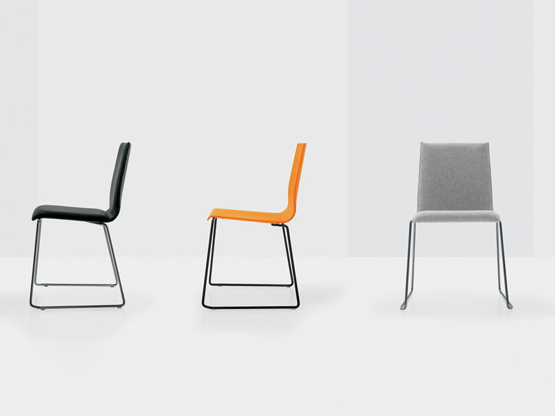 Sled base chair WIEL by Nube Italia