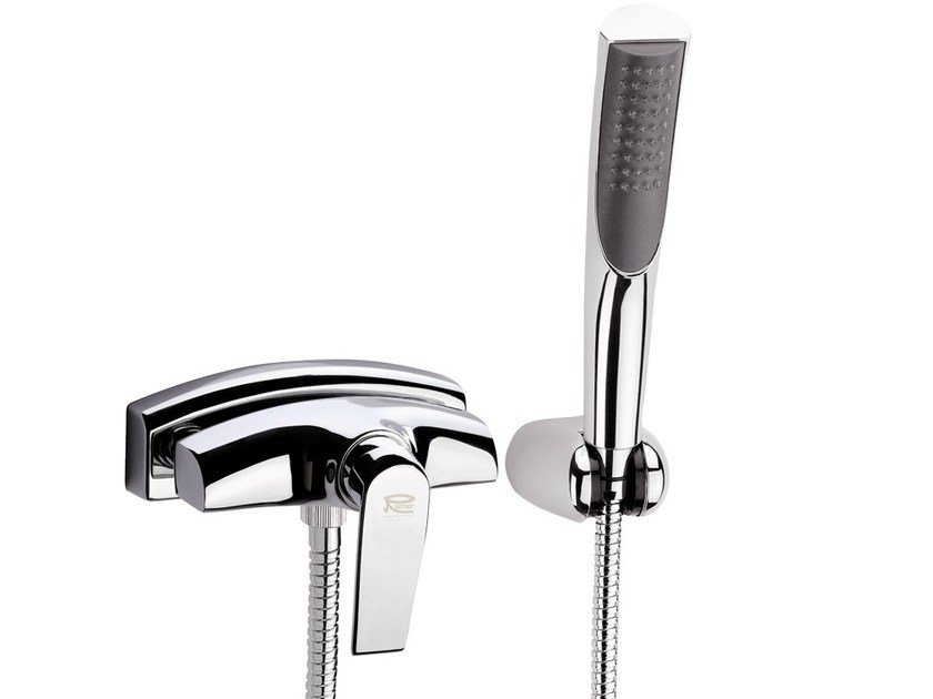 Wall-mounted bathtub mixer with hand shower ATMOS | Wall-mounted bathtub mixer - Remer Rubinetterie