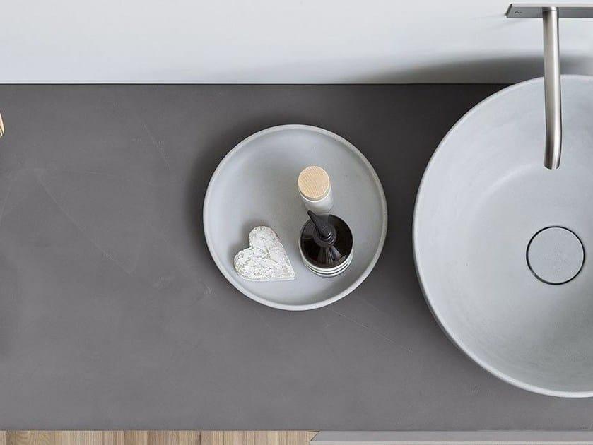 Jabonera sobre encimera JAPAN | Jabonera de Cocciopesto - Rexa Design