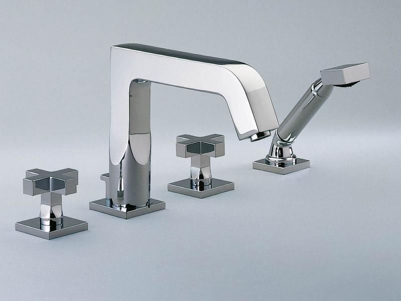 4 hole bathtub set with hand shower BELUGA | Bathtub set - INTERCONTACT
