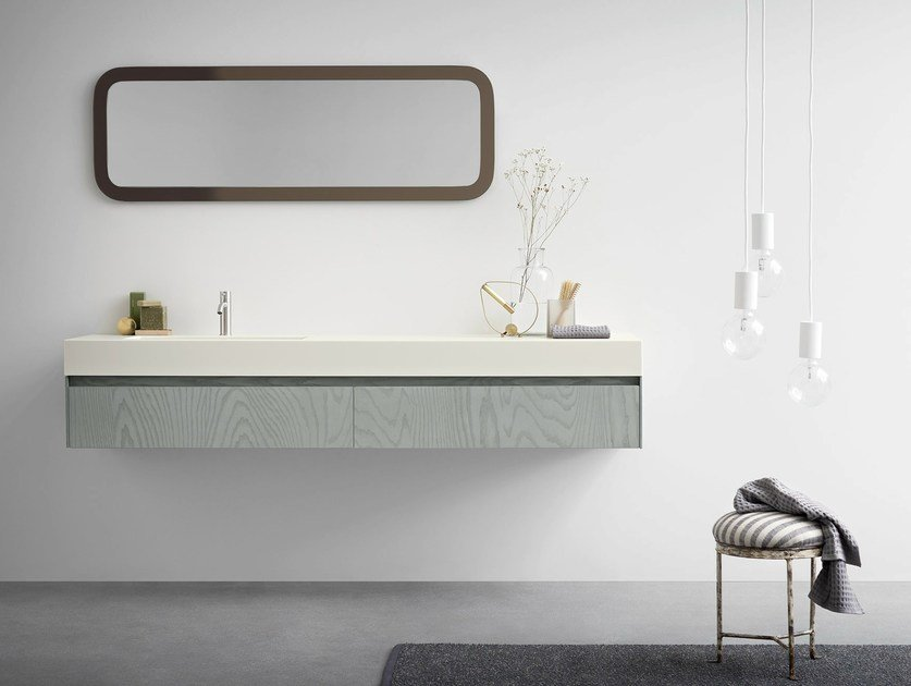 Wall-mounted vanity unit with drawers MOODE | Vanity unit with drawers - Rexa Design