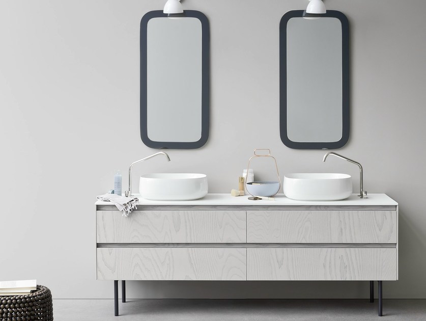 Double vanity unit with drawers MOODE | Double vanity unit - Rexa Design