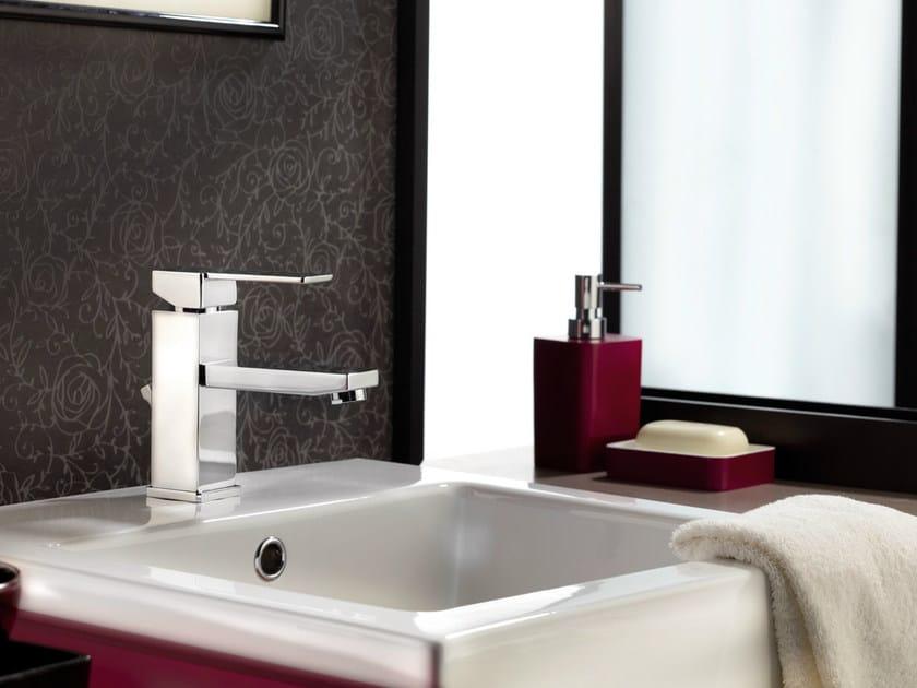 Single handle 1 hole washbasin mixer without waste QUBIKA | Washbasin mixer without waste by Remer Rubinetterie