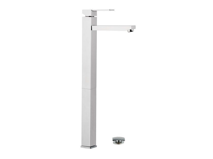 Chrome-plated single handle washbasin mixer QUBIKA | Washbasin mixer by Remer Rubinetterie