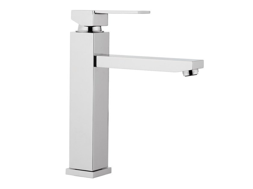 Chrome-plated kitchen mixer tap with swivel spout QUBIKA | Kitchen mixer tap - Remer Rubinetterie