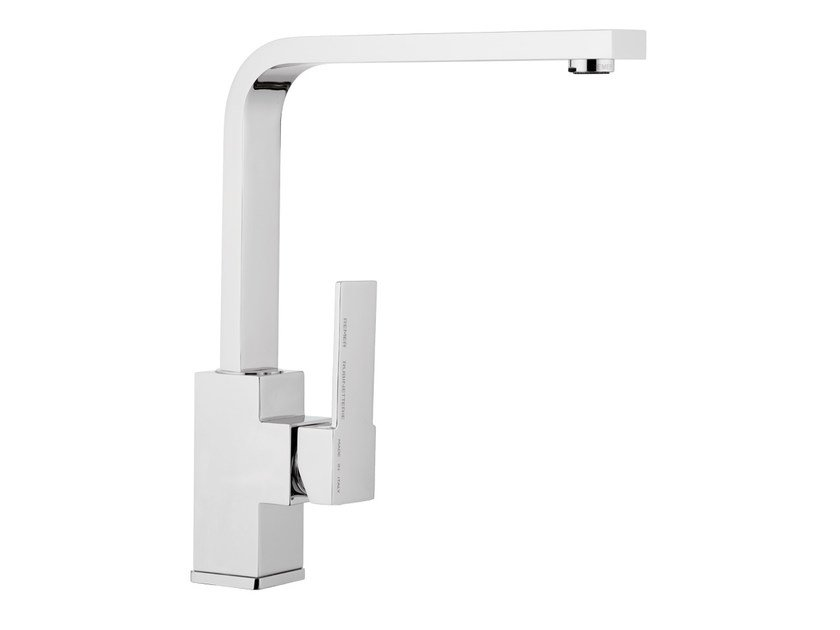 1 hole kitchen mixer tap with swivel spout QUBIKA | 1 hole kitchen mixer tap by Remer Rubinetterie