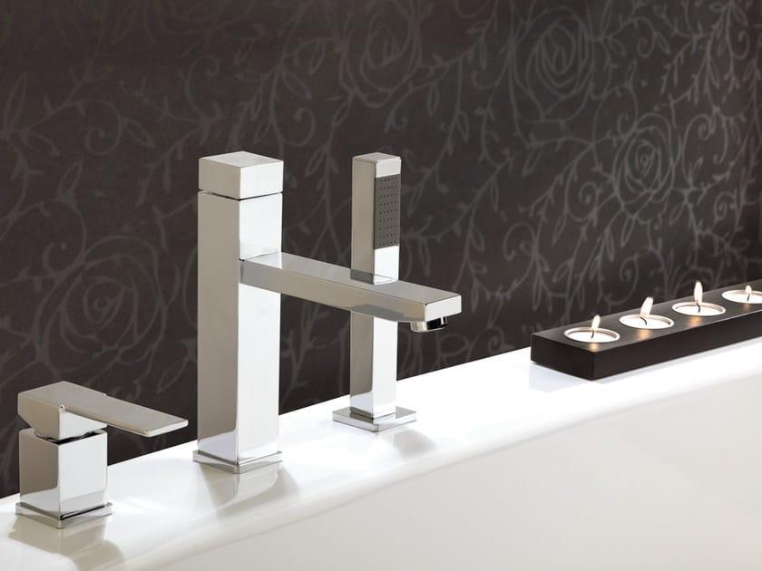 3 hole bathtub set with hand shower QUBIKA   3 hole bathtub set - Remer Rubinetterie