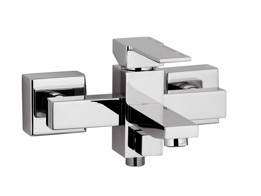 Wall-mounted single handle bathtub mixer QUBIKA | Bathtub mixer - Remer Rubinetterie