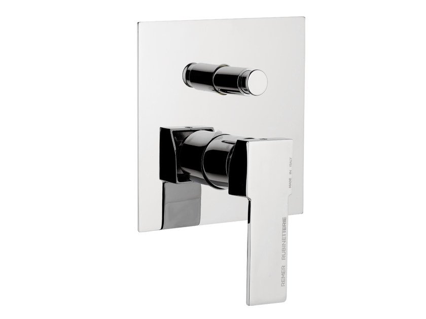 Chrome-plated shower mixer with diverter QUBIKA | Shower mixer - Remer Rubinetterie