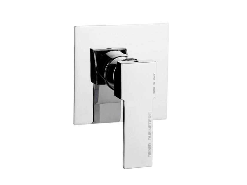 Chrome-plated single handle shower mixer QUBIKA | Shower mixer - Remer Rubinetterie