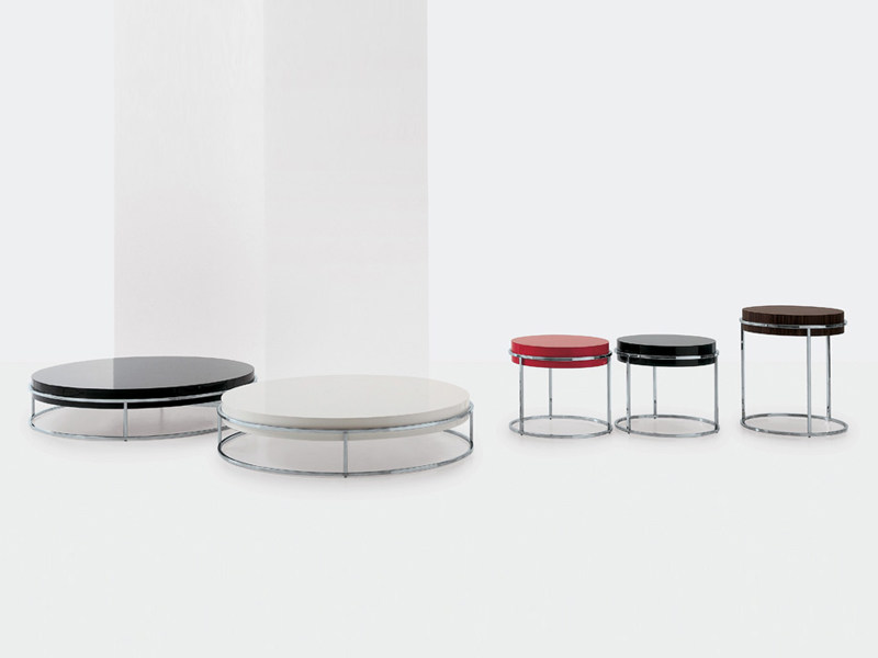 Round coffee table link a by nube italia design ricardo - B b italia link table ...