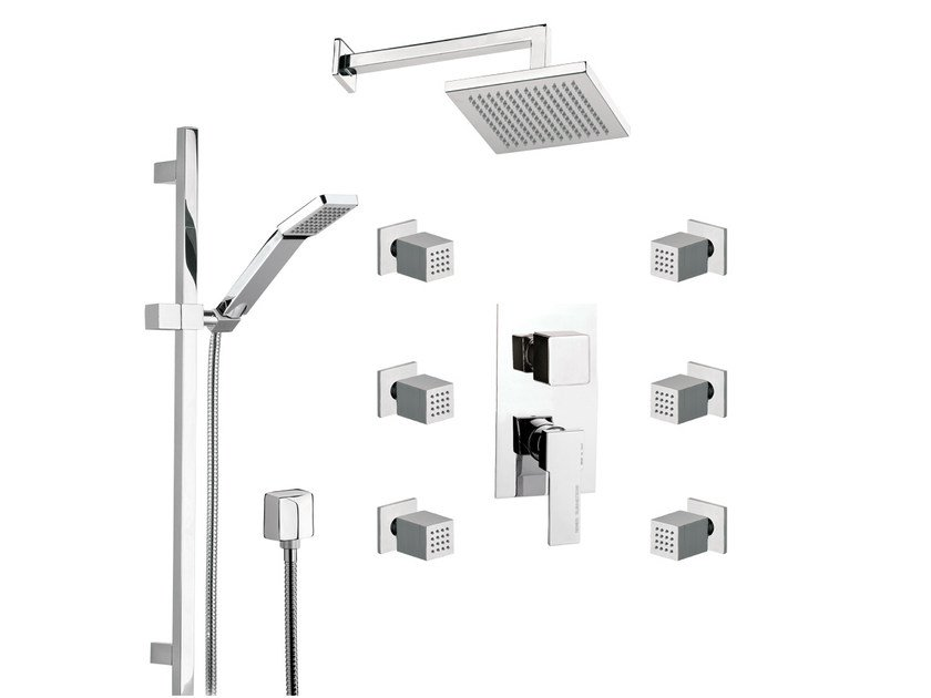 Built-in shower panel with diverter QUBIKA | Built-in shower panel - Remer Rubinetterie