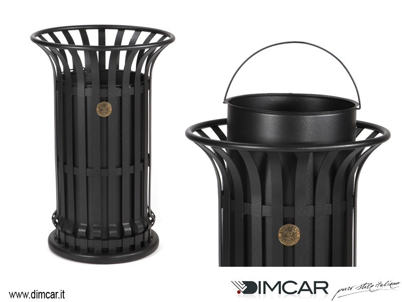 Outdoor metal waste bin Cestone Mida - DIMCAR