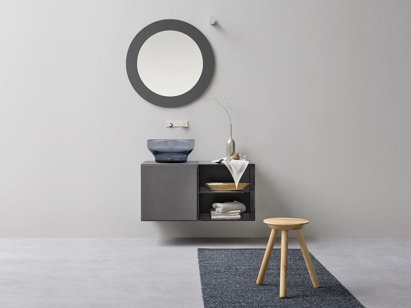 Single vanity unit with drawers ESPERANTO | Vanity unit with drawers by Rexa Design