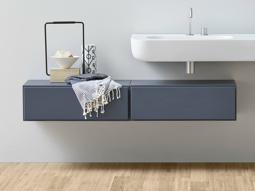 Suspended bathroom cabinet with drawers ESPERANTO | Suspended bathroom cabinet - Rexa Design