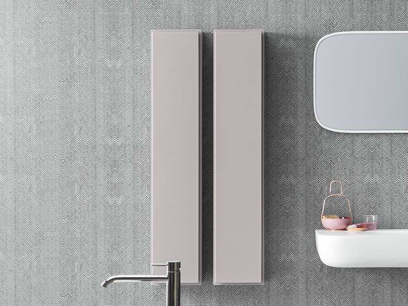 Tall bathroom cabinet with doors ESPERANTO | Tall bathroom cabinet - Rexa Design