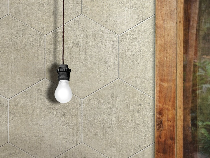 Full-body porcelain stoneware flooring PEARL CEMENT by ROMAX