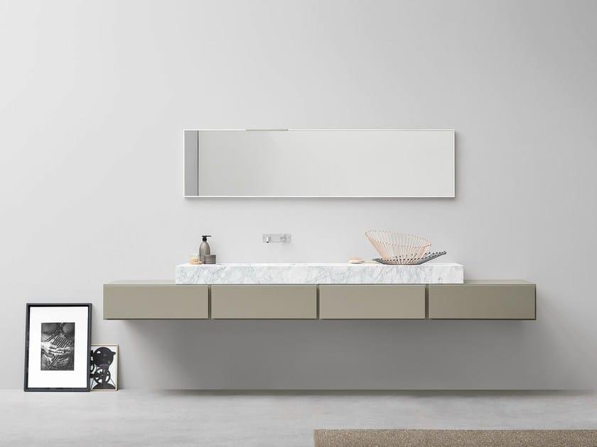 Lacquered single vanity unit ESPERANTO | Lacquered vanity unit - Rexa Design