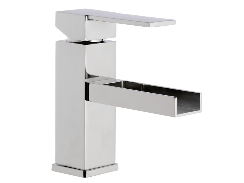 Single handle washbasin mixer QUBIKA CASCATA | Washbasin mixer - Remer Rubinetterie