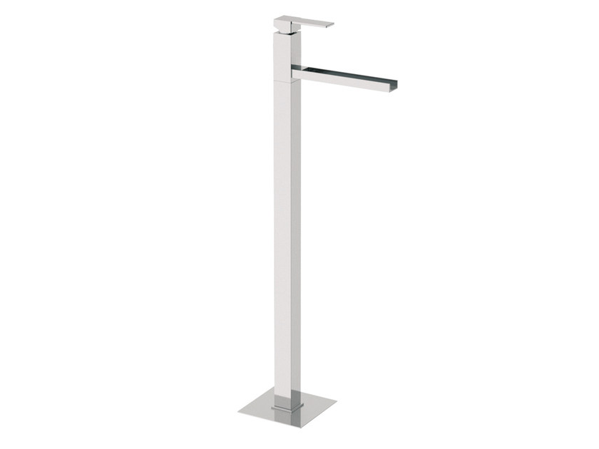 Floor standing single handle washbasin mixer QUBIKA CASCATA | Floor standing washbasin mixer - Remer Rubinetterie