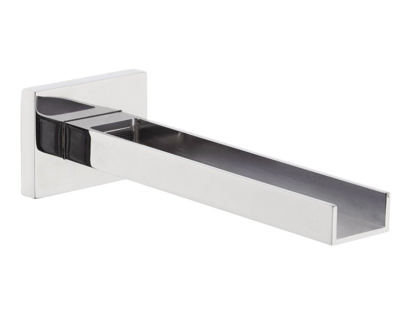 Wall-mounted spout with aerator QUBIKA CASCATA | Spout with aerator - Remer Rubinetterie