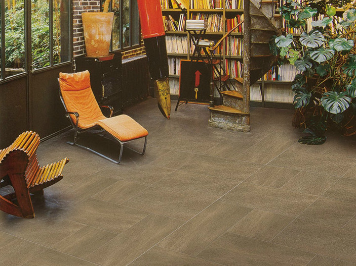 Full-body porcelain stoneware flooring COMPASS by ROMAX