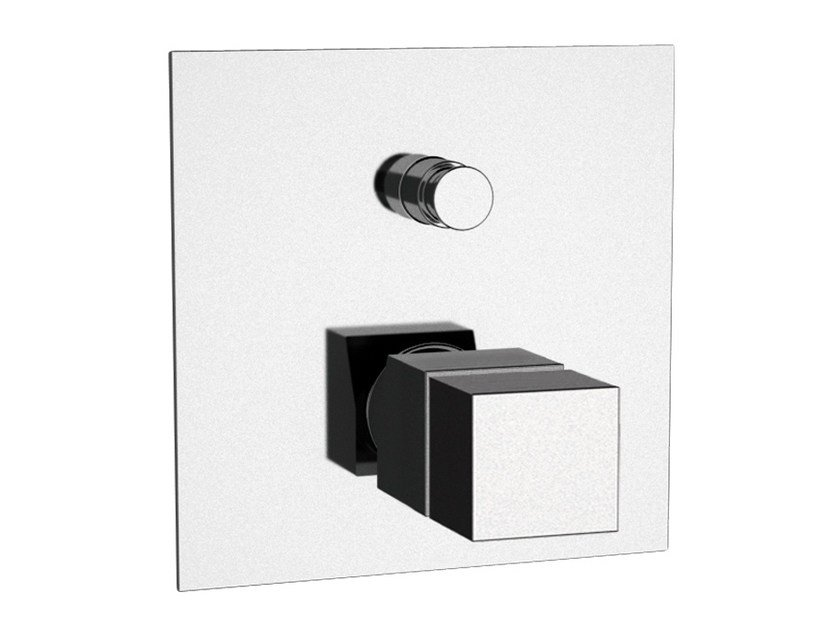 Thermostatic shower mixer with diverter QUBIKA THERMO | Thermostatic shower mixer by Remer Rubinetterie