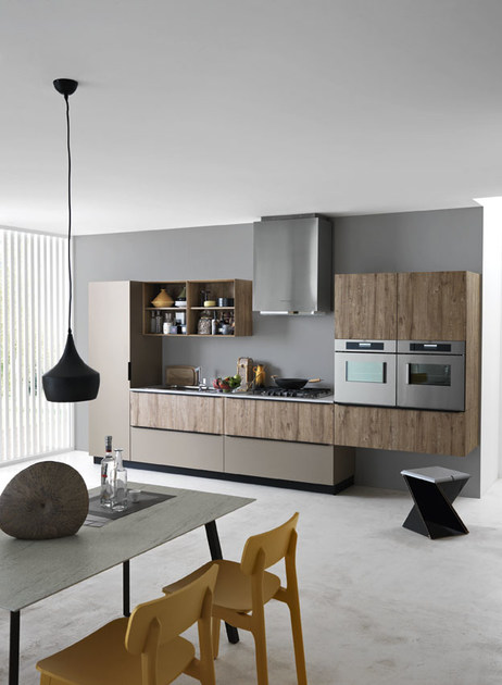 Linear fitted kitchen ariel composition 3 by cesar - Fotos de cocinas americanas ...