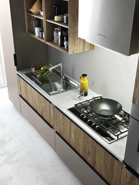 Cucina componibile lineare ARIEL - COMPOSIZIONE 3 - Cesar Arredamenti