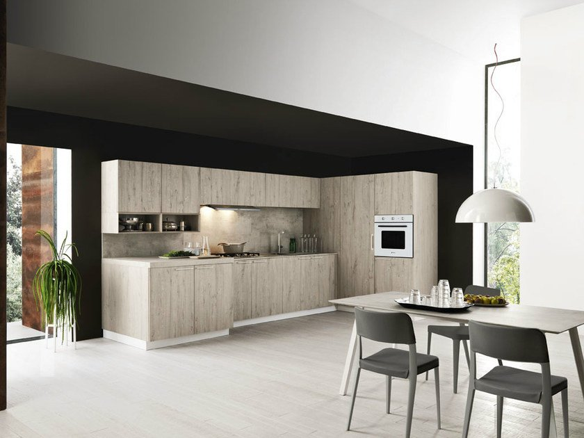 Linear fitted kitchen ARIEL - COMPOSITION 4 by Cesar Arredamenti