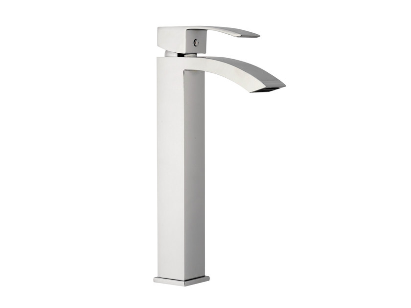 Chrome-plated single handle washbasin mixer without waste MARTE | Washbasin mixer without waste - Rubinetterie Mariani