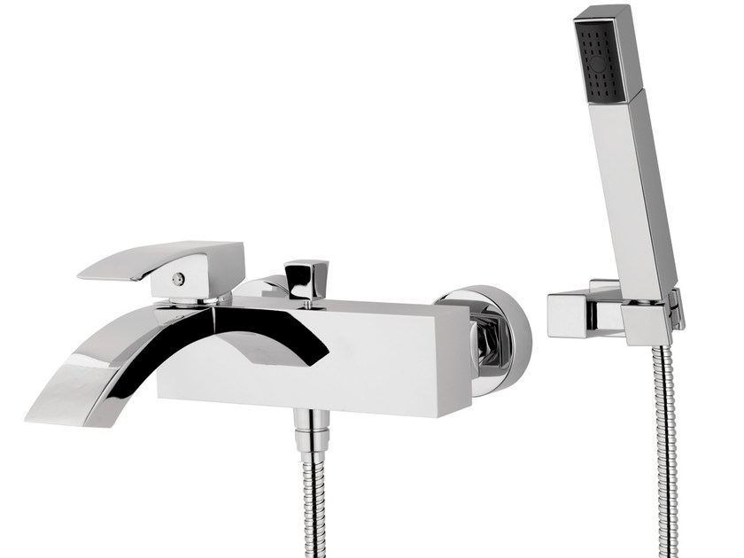 Wall-mounted bathtub mixer with hand shower MARTE | Bathtub mixer with hand shower - Rubinetterie Mariani