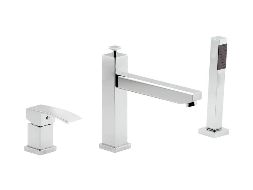 3 hole bathtub set with hand shower MARTE | Bathtub set - Rubinetterie Mariani