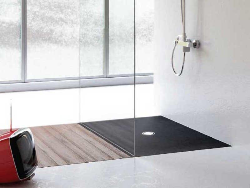 Piatto doccia filo pavimento in gres porcellanato filo by - Installazione piatto doccia filo pavimento ...