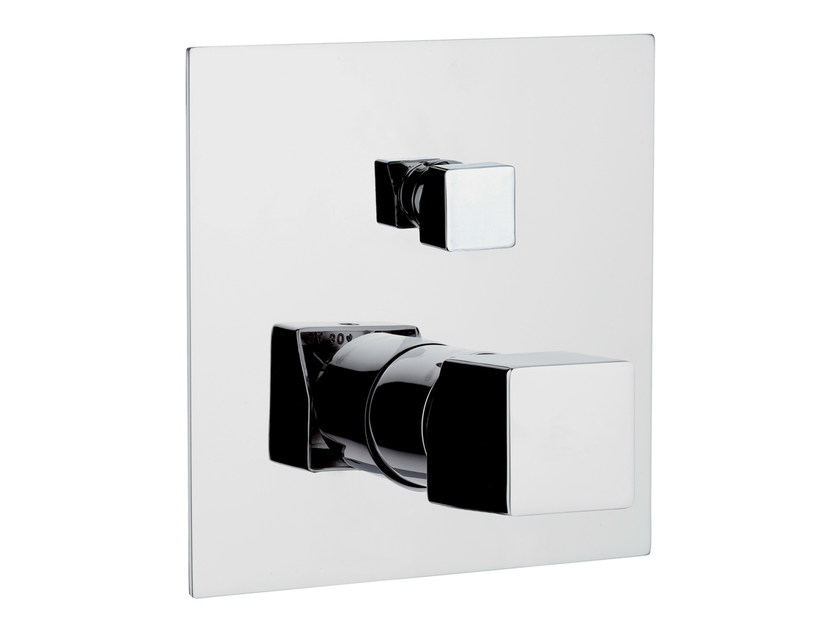 Chrome-plated shower mixer with diverter RIVER | Shower mixer with diverter - Rubinetterie Mariani