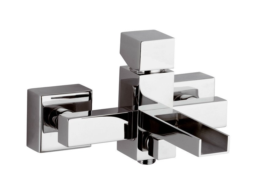 Wall-mounted chrome-plated bathtub mixer RIVER | Bathtub mixer by Rubinetterie Mariani