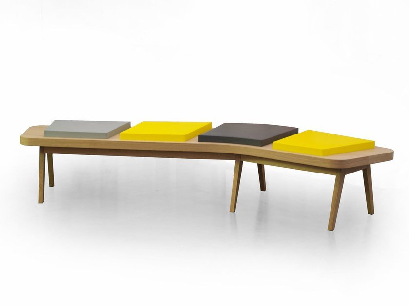 Backless bench seating AIRBENCH BOOMERANG SMALL by Quinze & Milan