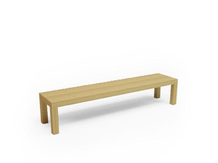 Backless wooden bench seating CAMPING BENCH 220 by Quinze & Milan